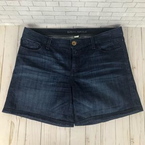 Banana Republic Dark Wash Shorts Medium Rise Sz 30